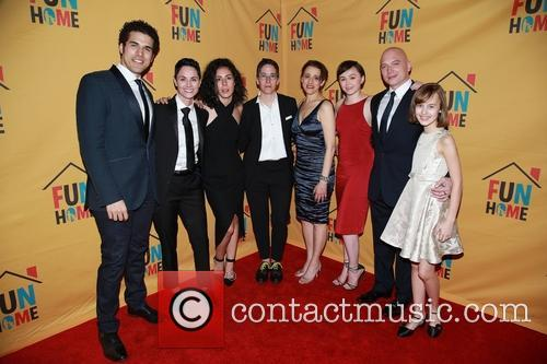 Joel Perez, Beth Malone, Roberta Colindrez, Alison Bechdel, Judy Kuhn, Emily Skeggs, Michael Cerveris and Sydney Lucas 2