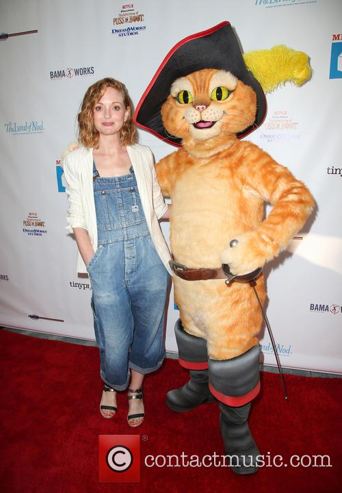 Jayma Mays and Puss In Boots 2