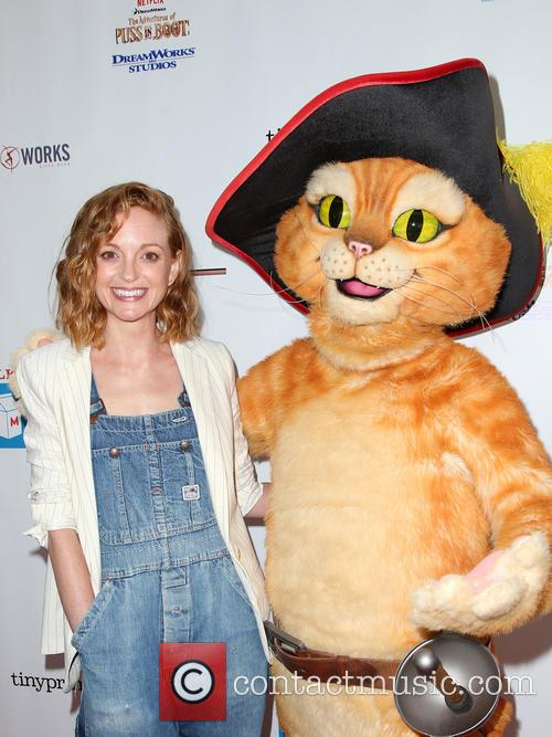 Jayma Mays and Puss In Boots 3