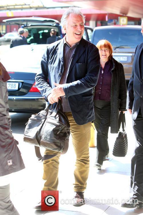 Alan Rickman arriving at Tegel airport