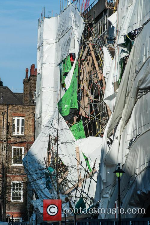 Building and scaffolding collapse at the London School...
