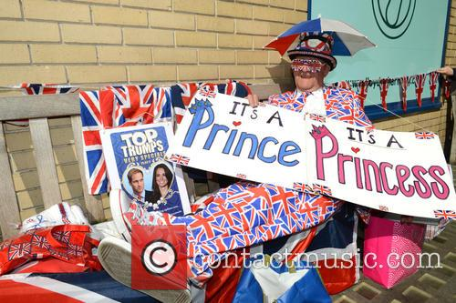 Royal watchers set up camp at St Mary's...