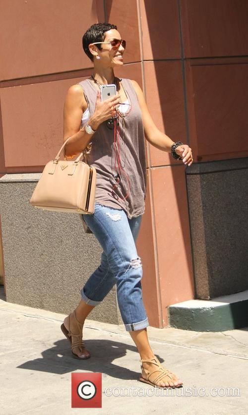 Nicole Murphy goes shopping in Beverly Hills