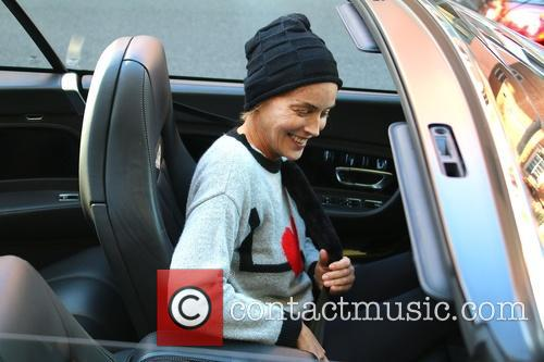 Sharon Stone out and about running errands in...