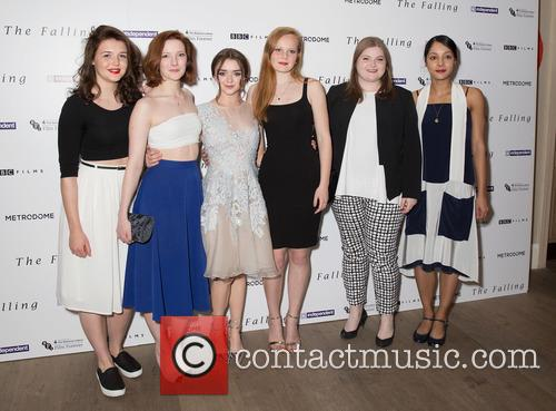 Rose Caton, Katie Ann Knight, Evie Hooton, Maisie Williams, Florence Pugh, Anna Burnett and Morfydd Clark 2