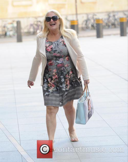 Vanessa Feltz arriving at BBC Radio
