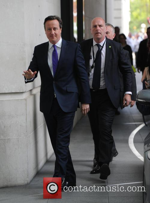 David Cameron out in London