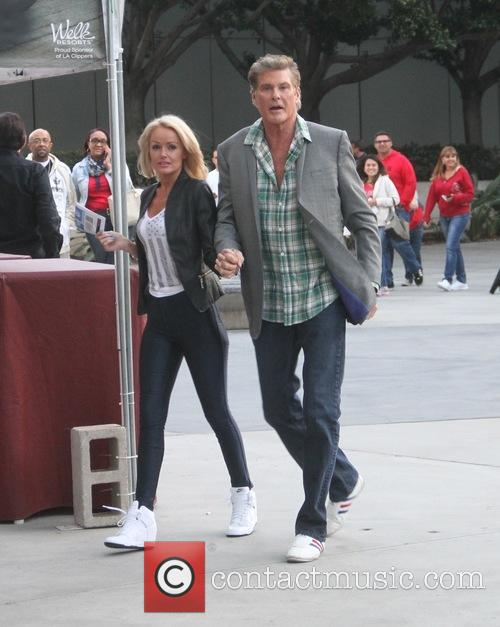 David Hasselhoff and Hayley Roberts 6