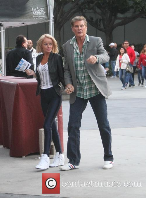 David Hasselhoff and Hayley Roberts 8