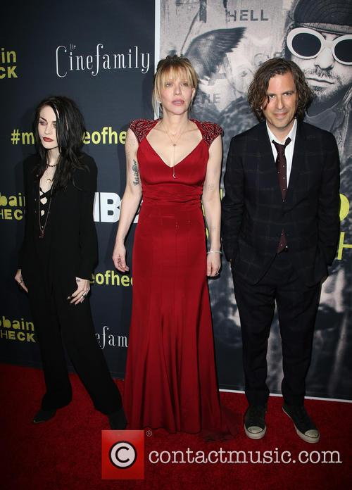 Frances Bean Cobain, Courtney Love and Brett Morgen 2
