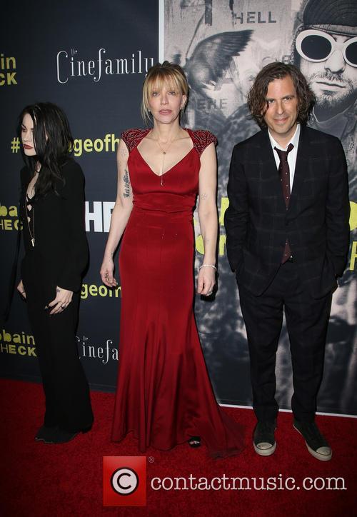 Frances Bean Cobain, Courtney Love and Brett Morgen 3