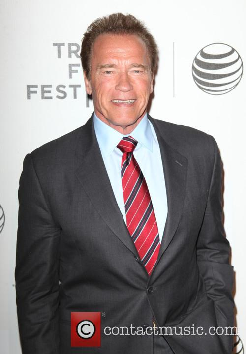 Arnold Schwarzenegger at the premiere of Maggie