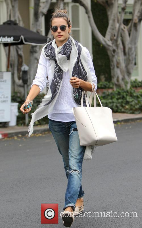 Alessandra Ambrosio shops in Melrose Place