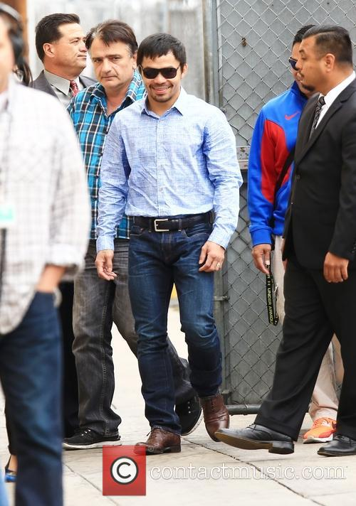 Manny Pacquiao arriving at ABC studios for Jimmy...