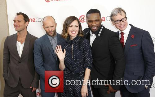 Jude Law, Jason Statham, Rose Byrne, Curtis 50 Cent Jackson and Paul Feig 7
