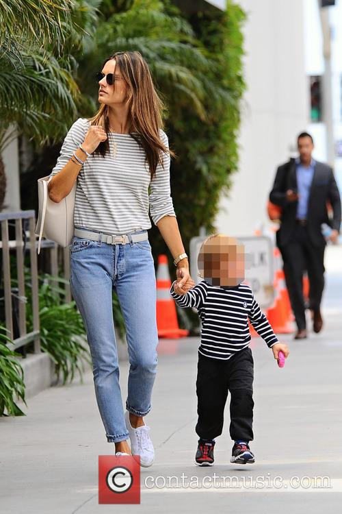 Alessandra Ambrosio goes to lunch in Brentwood
