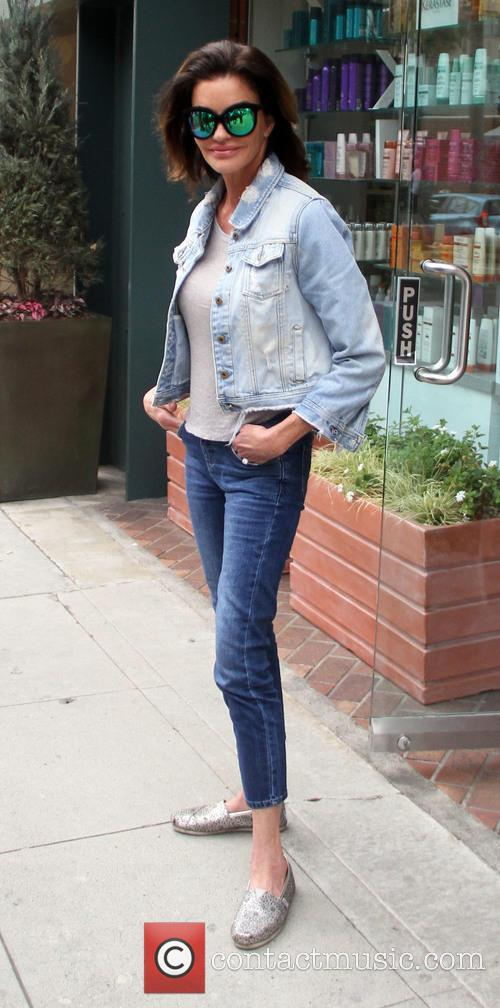 Janice Dickinson leaves a salon in Beverly Hills