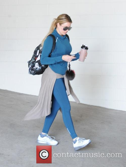 Khloe Kardashian leaves the gym in Hollywood