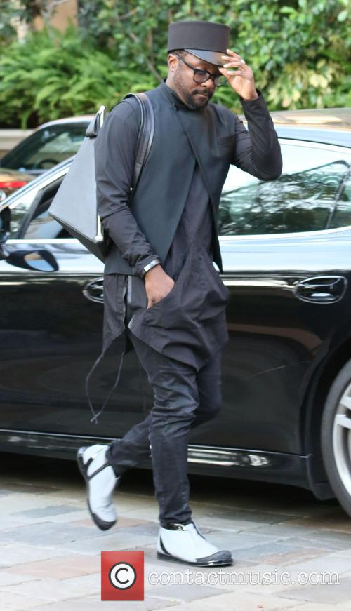 will.i.am arriving at Four Seasons Hotel in Beverly...