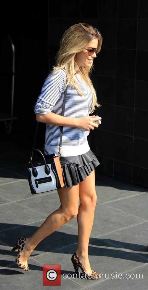 Sylvie Meis outside Hyatt Hotel