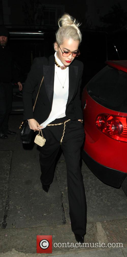 Rita Ora leaves the ITV studios, then heads...