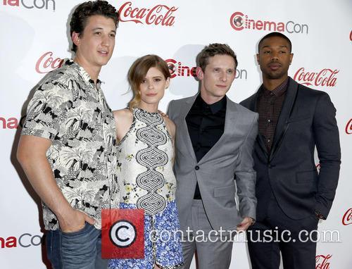 Miles Teller, Kate Mara, Jamie Bell and Michael B Jordan 3