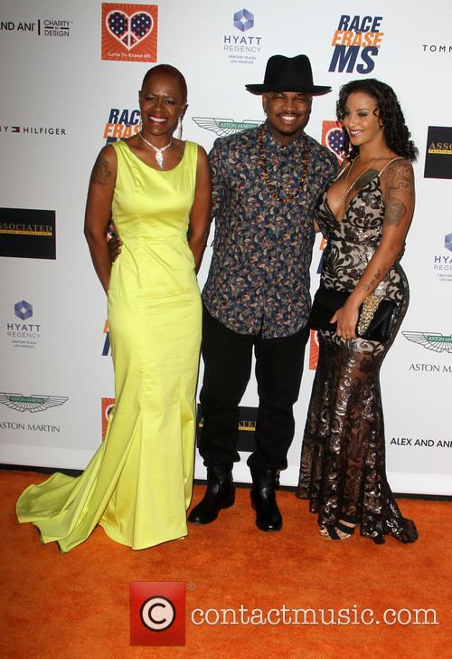 Ne-yo, Loraine Smith and Monyetta Shaw 1