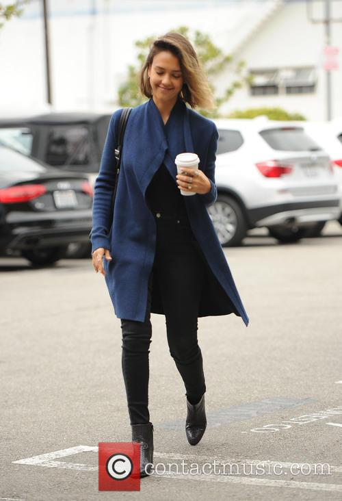 Jessica Alba wears thigh boots