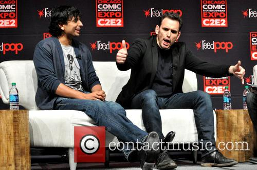 M. Night Shyamalan and Matt Dillon 6