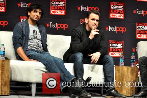 M. Night Shyamalan and Matt Dillon 9