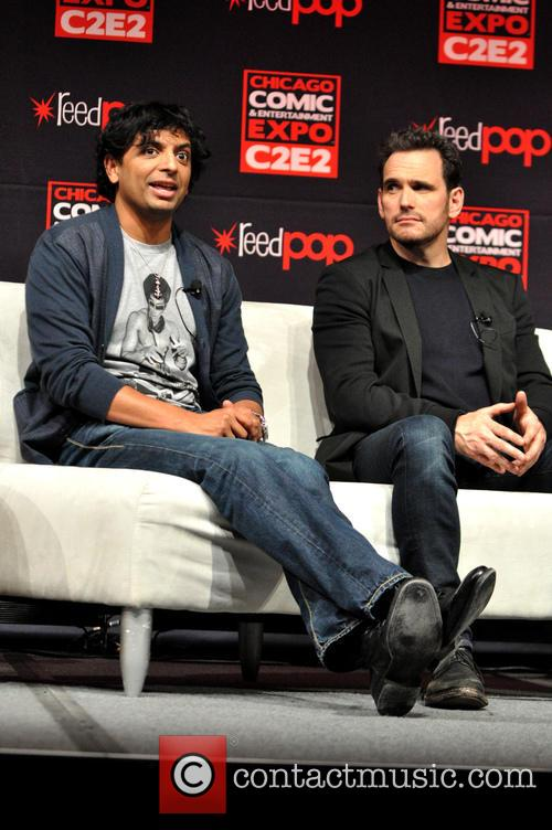 M. Night Shyamalan and Matt Dillon 10