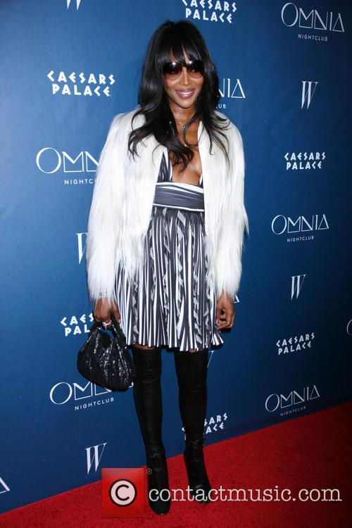 Naomi Campbell DJs the grand opening of Omnia...