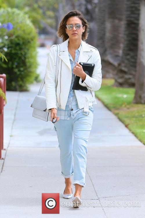Jessica Alba spotted leaving the Gentle Wellness Center