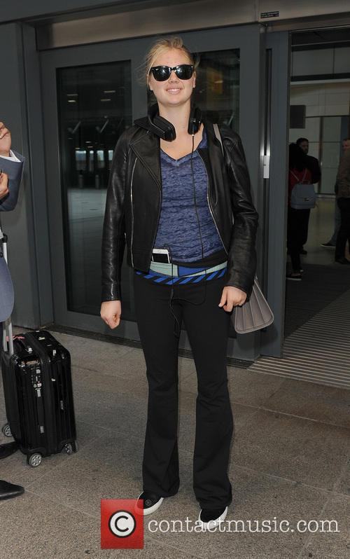 Kate Upton arrives at Heathrow Airport