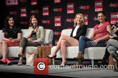 Maria Doyle Kennedy, Jewel Staite, Leah Pipes and Neve Mcintosh 1