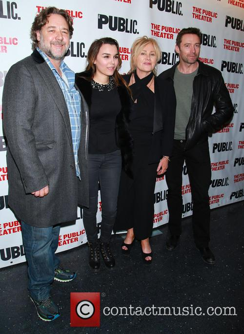 Russell Crowe, Samantha Barks, Deborra Lee Furness and Hugh Jackman