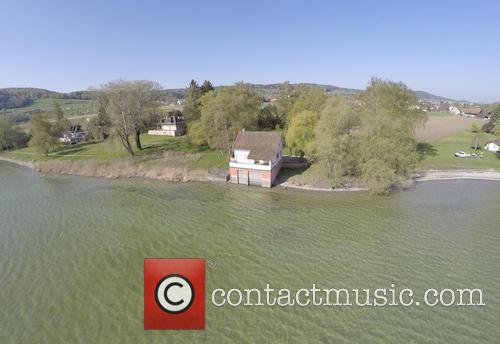 Aerial view of Sebastian Vettels' new boat house