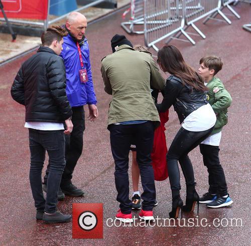 Victoria Beckham, David Beckham, Romeo Beckham and Brooklyn Beckham 5