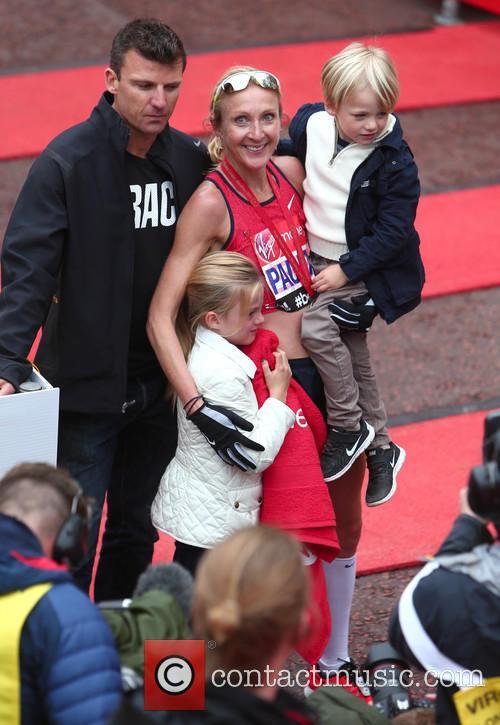 Paula Radcliffe, Gary Lough, Raphael Lough and Isla Lough 2