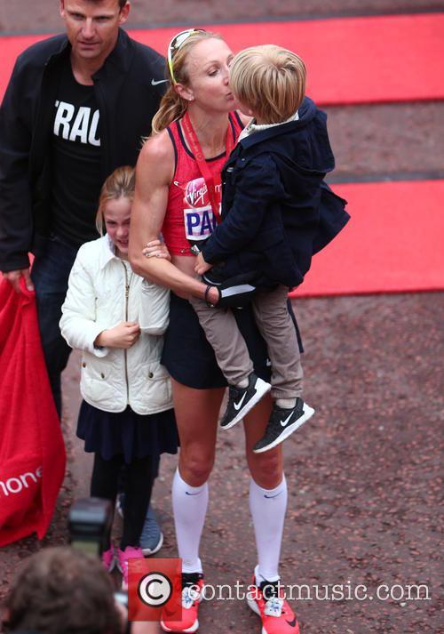 Paula Radcliffe, Gary Lough, Raphael Lough and Isla Lough 9