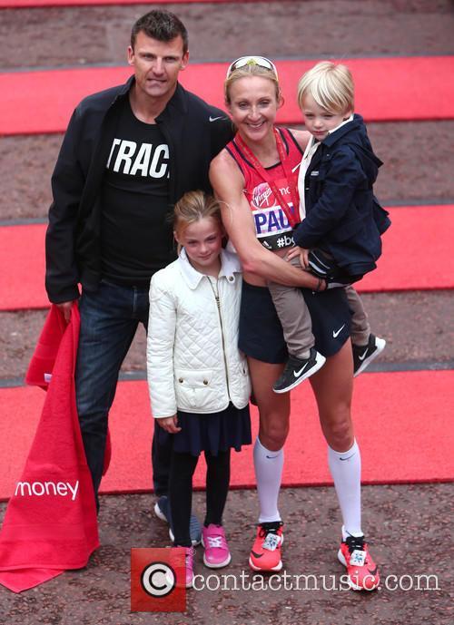Paula Radcliffe, Gary Lough, Raphael Lough and Isla Lough 11