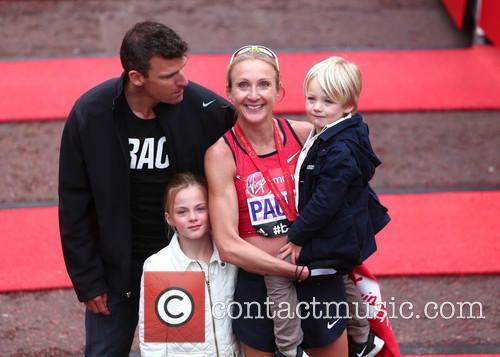 Paula Radcliffe, Gary Lough, Raphael Lough and Isla Lough