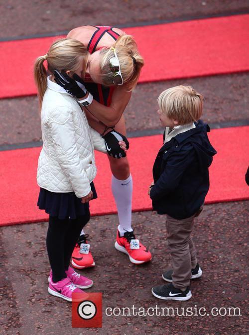 Paula Radcliffe, Raphael Lough and Isla Lough