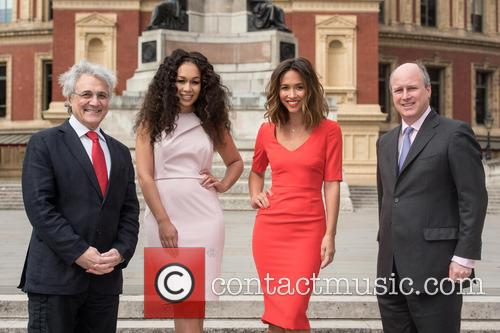John Suchet, Rebecca Ferguson, Myleene Klass and Randolph Churchill 3