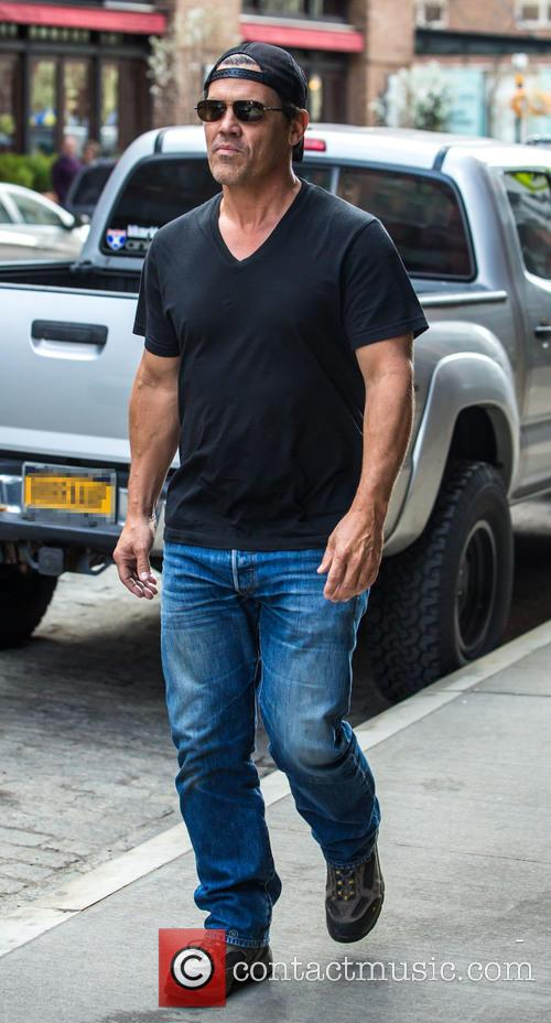 Josh Brolin leaving his hotel in New York...