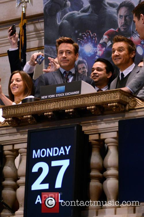 Robert Downey Jr. and Jeremy Renner 6