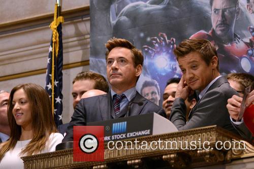 Robert Downey Jr. and Jeremy Renner 7