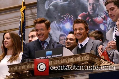 Robert Downey Jr. and Jeremy Renner 8