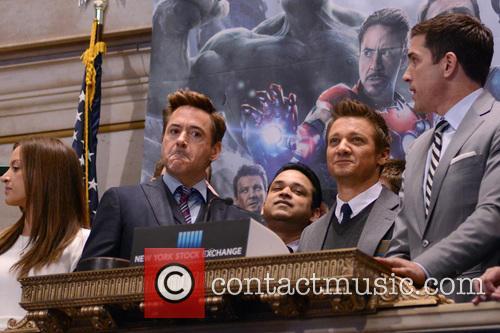 Robert Downey Jr. and Jeremy Renner 9