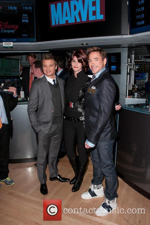 Jeremy Renner and Robert Downey Jr. 1